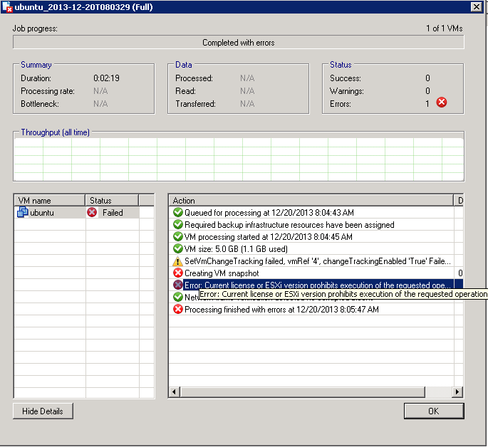 Veeam Backup Free and free ESXi 5.1