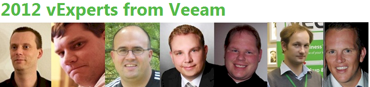 Veeam vExperts 2012