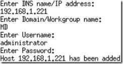 Just add the DNS name or IP address, domain or workgroup name, username and password for the Hyper-V server and you are done