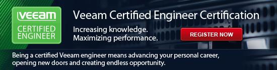 Veeam Certified Engineer (VMCE) certification