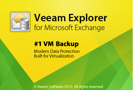 Pic. 1 Veeam Explorer for Exchange is available as an additional component of Veeam Backup Free Edition after its installation.