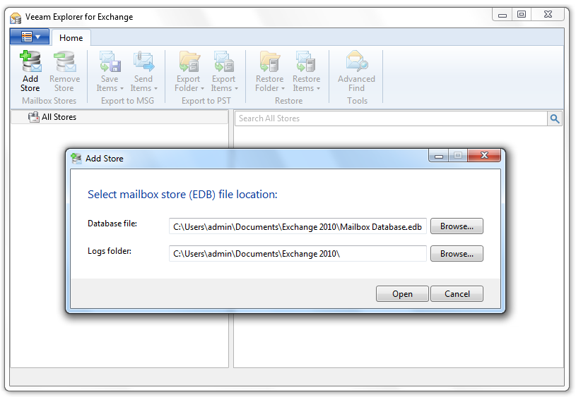 How to recover Exchange mailbox folder for FREE