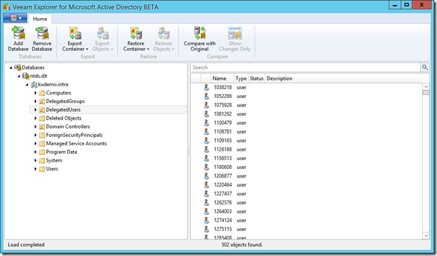 Veeam Explorer for Active Directory v8 Beta