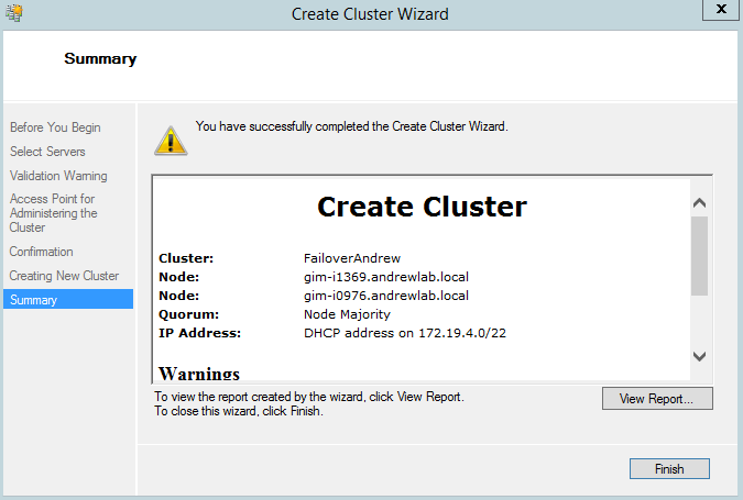 Create FC wizard