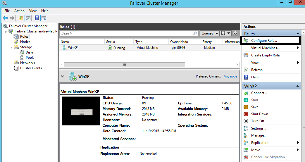 What is a Hyper-V failover cluster in Windows Server?