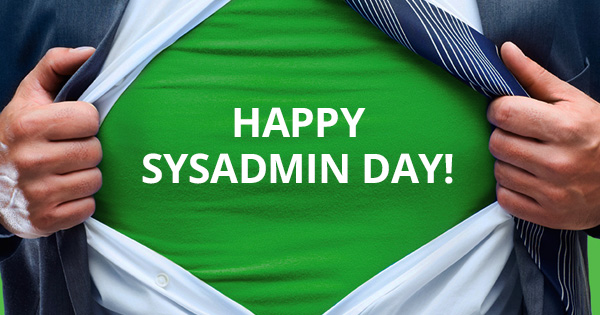 Happy SysAdmin Day 2015!