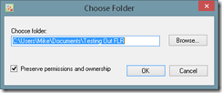 Choose folder to backup PC and Laptop