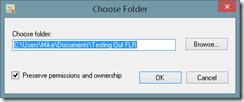 Choose folder to backup PC and Laptop