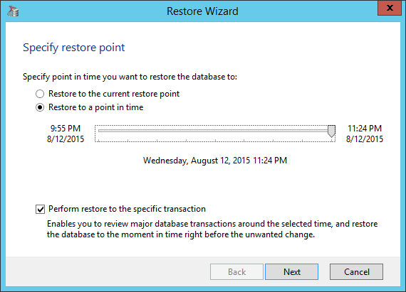 Restoring SQL Server database table
