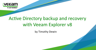 Active Directory backup and recovery with Veeam