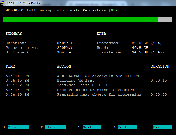 Veeam Backup for Linux - a web-based GUI, command-line interface