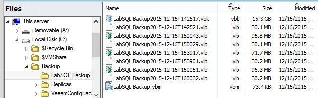 Backup repository