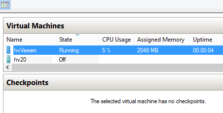 Hyper-V dynamic memory. VM is booting