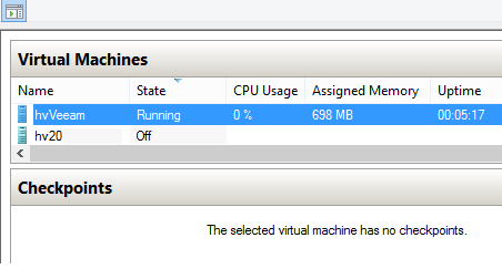 Hyper-V dynamic memory. VM is idle