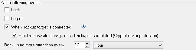 CryptoLocker protection with Veeam Endpoint Backup