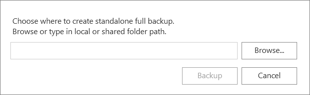 Veeam Endpoint Backup FREE 1.5 customizable destination for standalone full backups