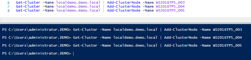 Add-ClusterNode