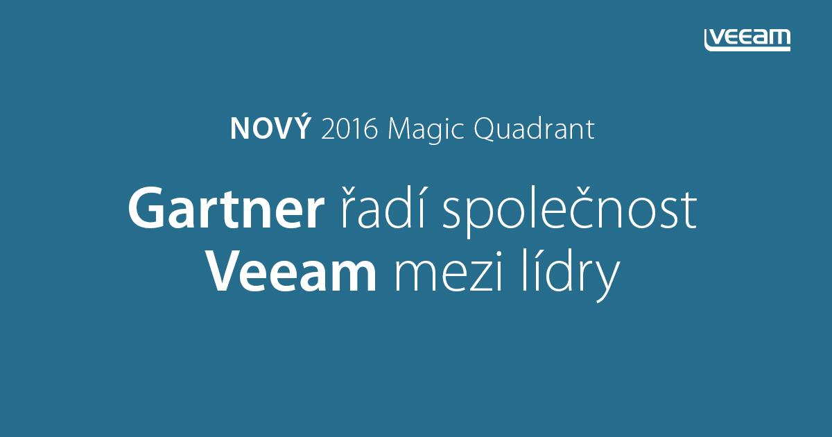 Gartner řadí společnost Veeam mezi lídry v novém průzkumu Magic Quadrant for Data Center Backup & Recovery 2016