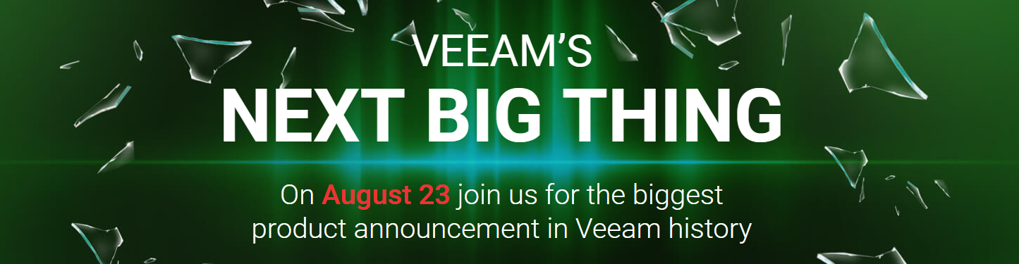 biggest product announcement in Veeam history
