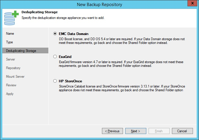 Backup repositories: VMware backup best practices