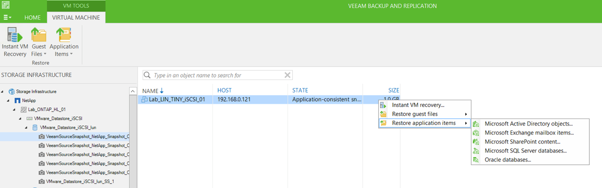 Fast Recovery with NetApp Snapshots and Veeam