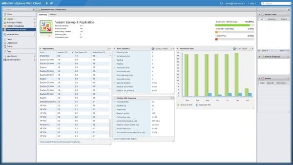 Veeam's VMware vSphere Web Client Plug-in