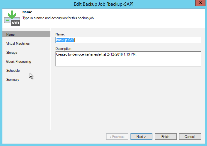 Oracle backup and restore with Veeam