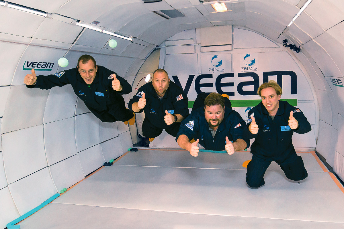We rewarded our 200,000th customer with a zero gravity flight