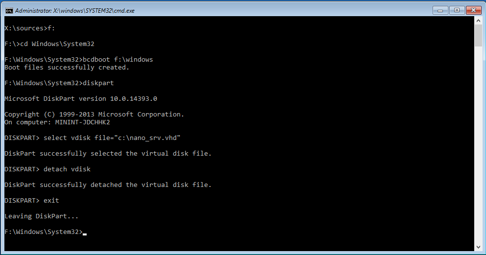 Nano Server physical deployment