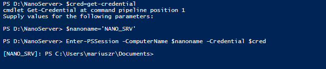 Setting up Nano Server with Hyper-V Role 1