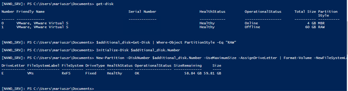 Setting up Nano Server with Hyper-V Role 3