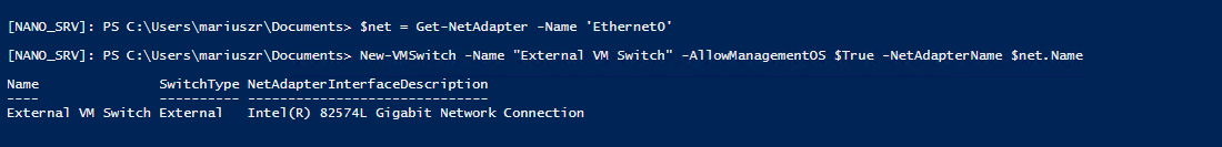 Setting up Nano Server with Hyper-V Role 5
