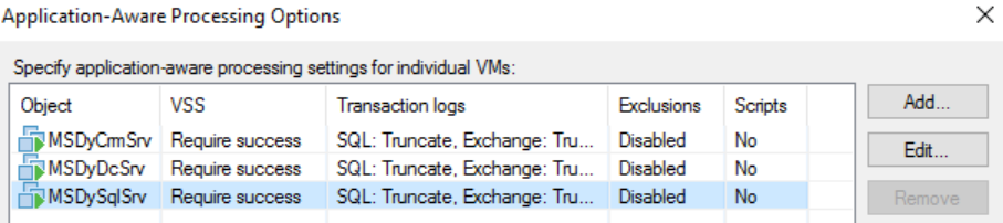 Protecting MS Dynamics CRM with Veeam