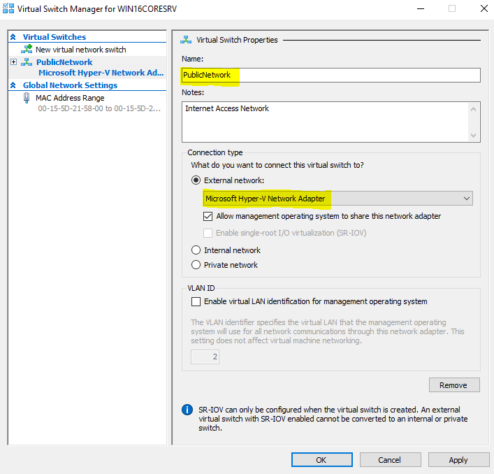 Hyper-V installation and configuration step-by-step