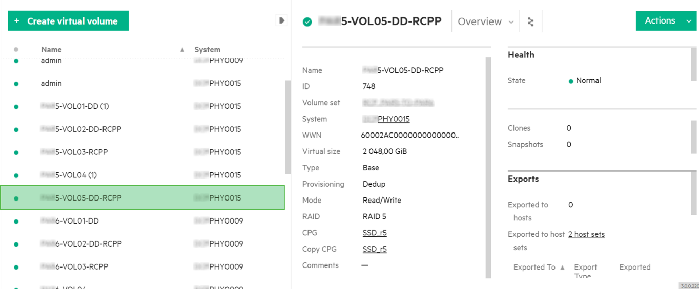 How to back up from HPE 3PAR StoreServ secondary storage array