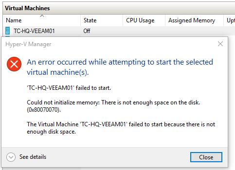 Hyper-V storage management best practice guide