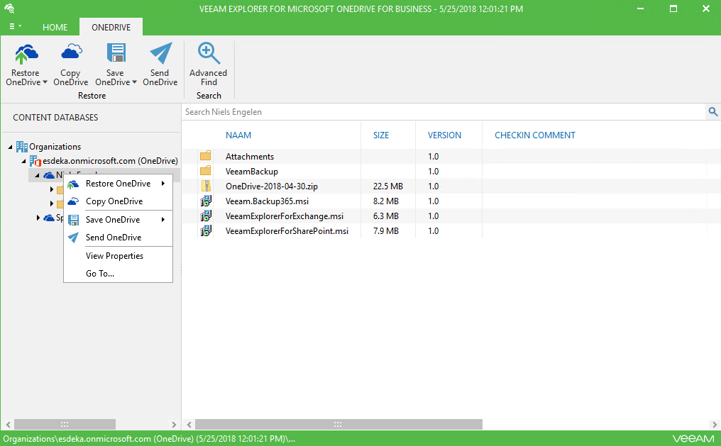 New Office 365 SharePoint and OneDrive backup with Veeam