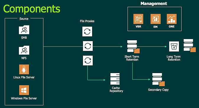 Veeam NAS Backup Components
