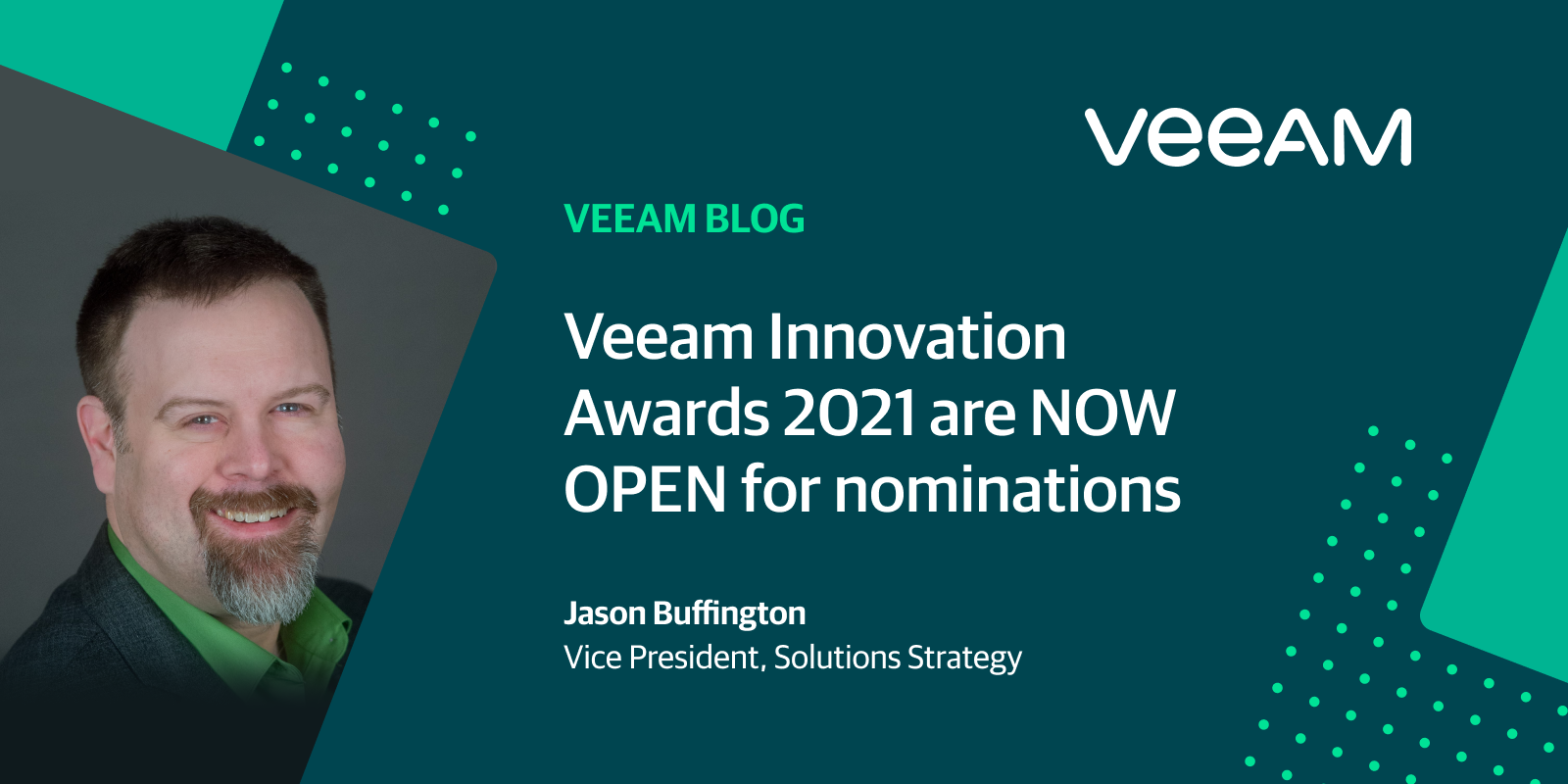 Veeam Innovation Awards 2021 are NOW OPEN for nominations