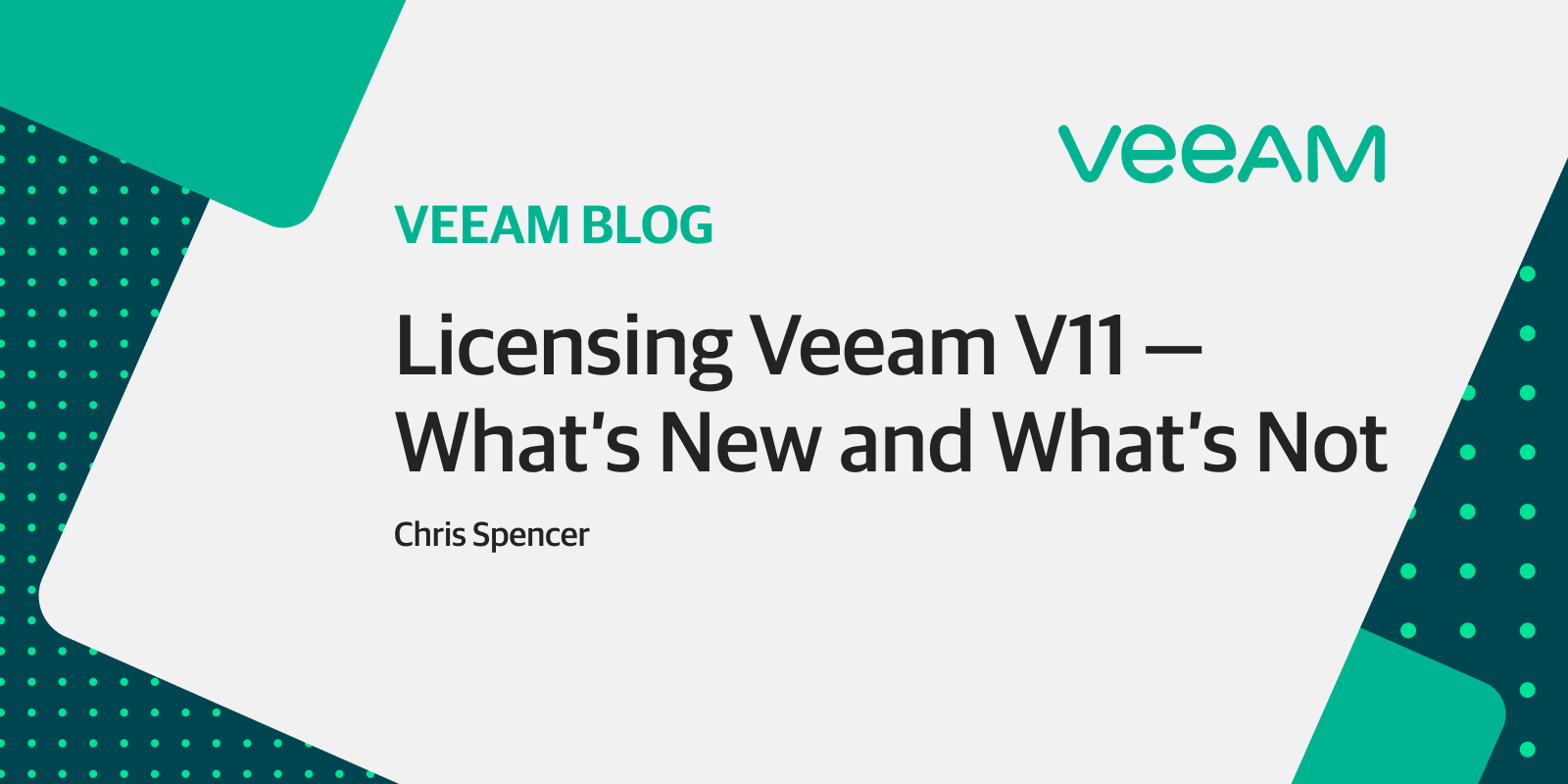 Licensing Veeam V11: What's new and what's not