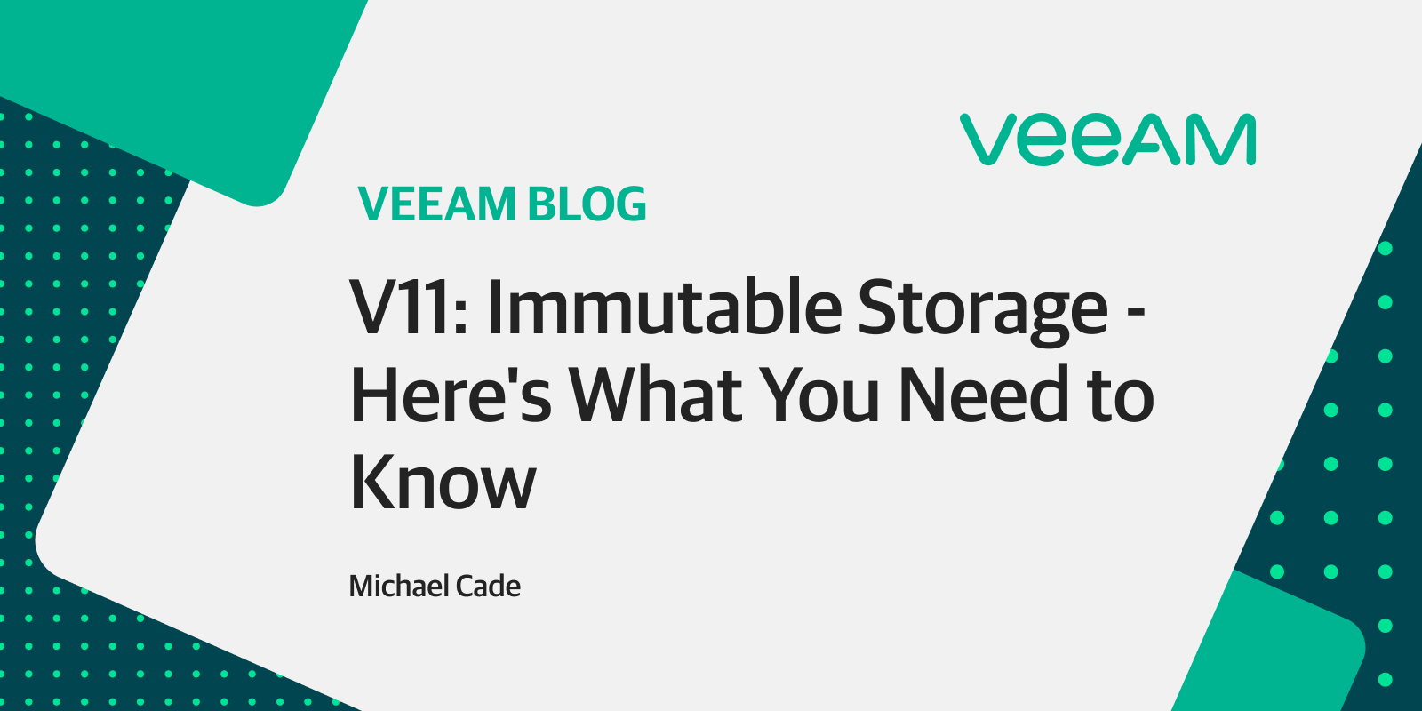 V11: Immutable primary backup storage with a hardware-agnostic touch