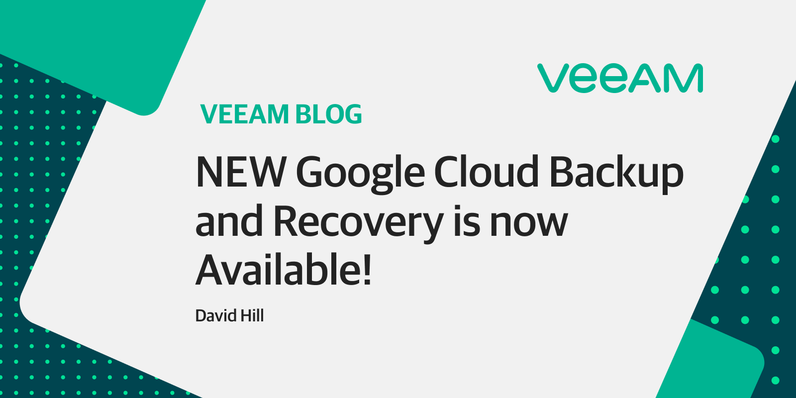 NEW Google Cloud backup and recovery is now available!
