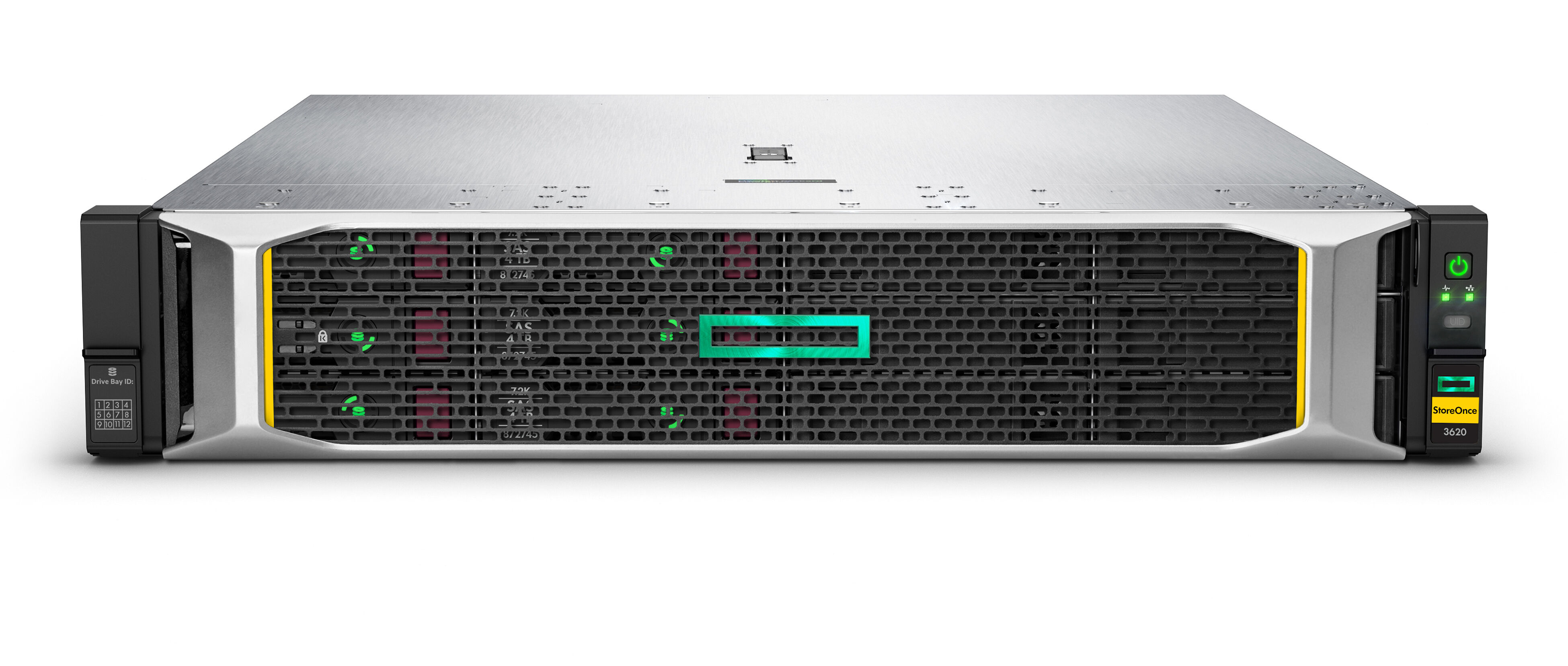 Front (SFF) view of an HPE ProLiant DL380 Gen10 with 16NVME UMB.