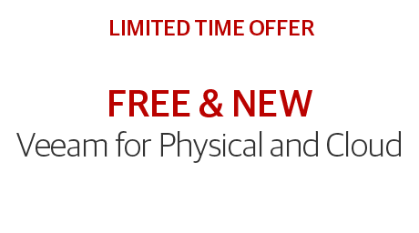 Veeam for Physical and Cloud - a limited time offer!