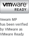 Veeam MP is door VMware gecertificeerd als VMware Ready