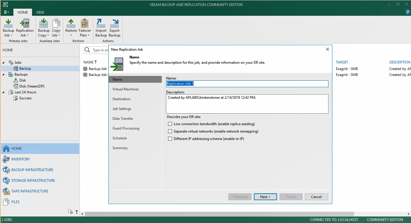 Free Backup Solution - Veeam Backup & Replication Community
