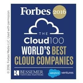 Veeam has been named to the first-ever Forbes 2016 Cloud 100, the definitive list of the top 100 private cloud companies in the world.