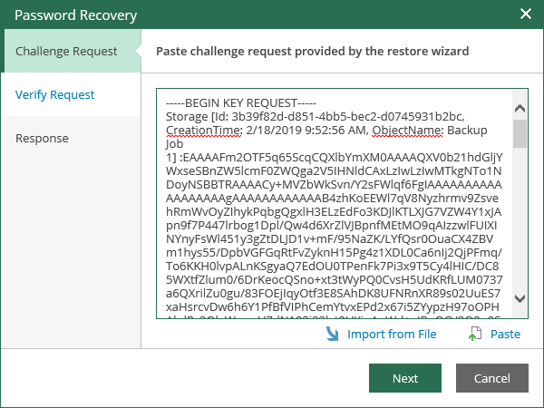 Even if you lose or forget the password, you can still recover data from encrypted backup files with the help of Veeam Enterprise Manager.