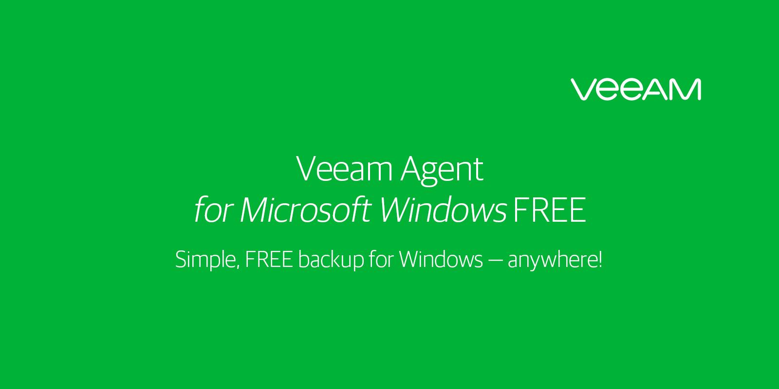 Free Windows Backup for Endpoint, Server and Desktop - Veeam