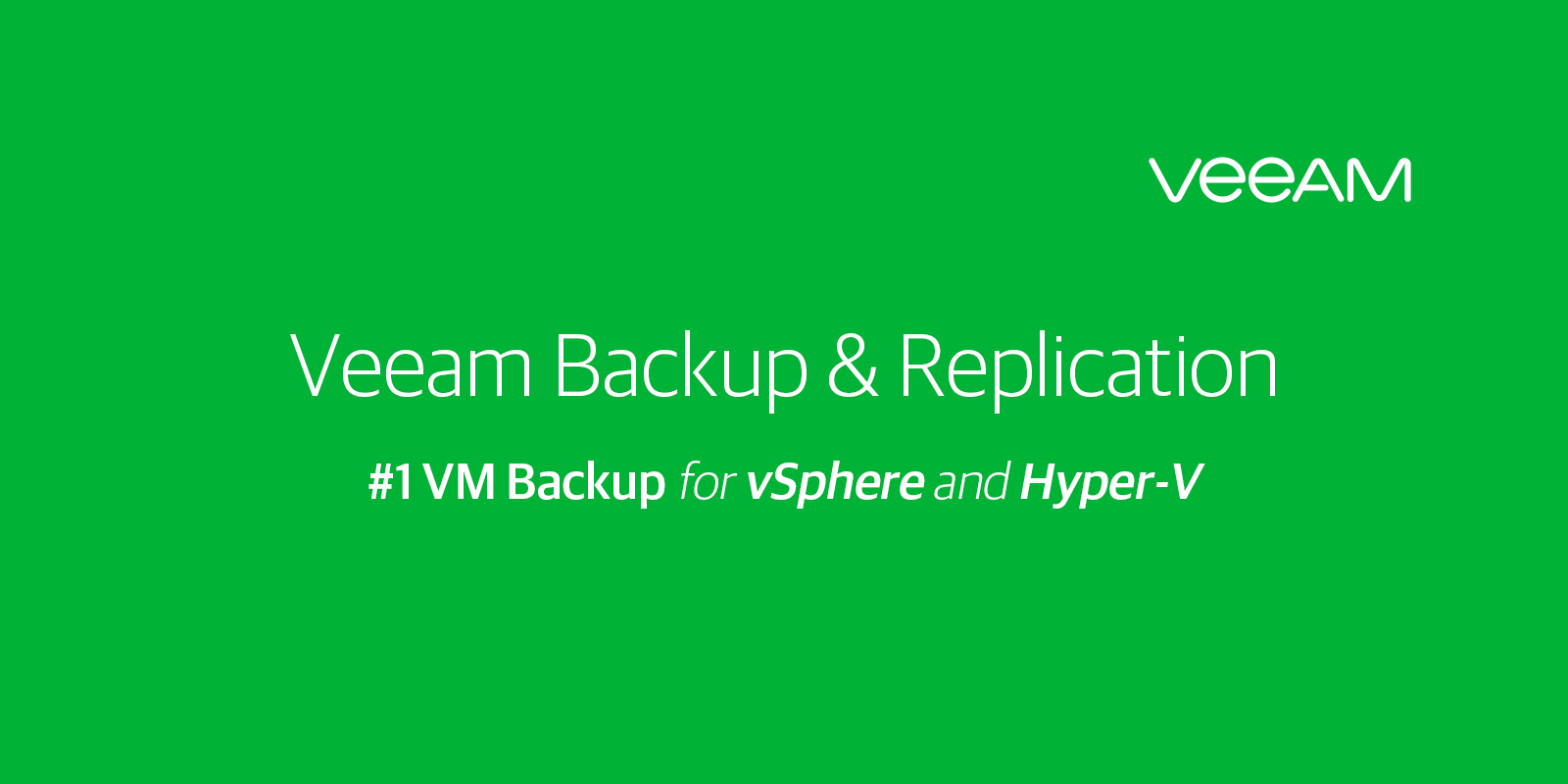 Backup Software For Virtual Physical And Cloud Vbr